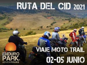 Viaje en moto trail o enduro Ruta del Cid Enduropark